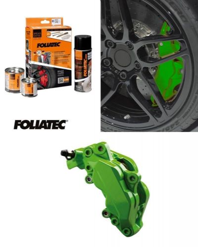 Foliatec Car Motorbike Brake Caliper Paint Kit Green Gloss Brush On High Temp